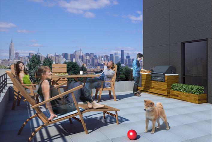 738 Grand Street roof deck