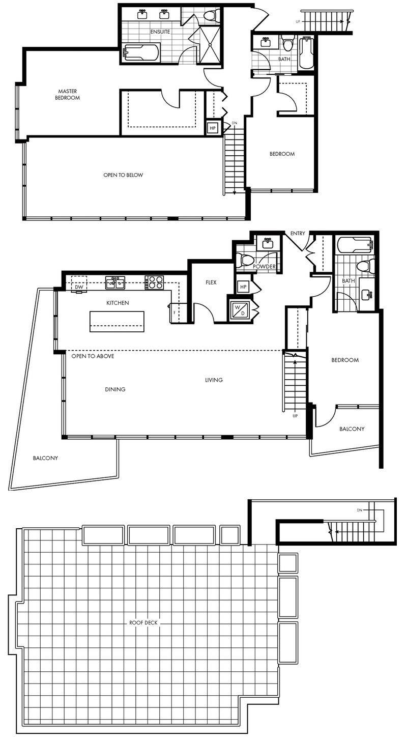 Modern penthouse suite