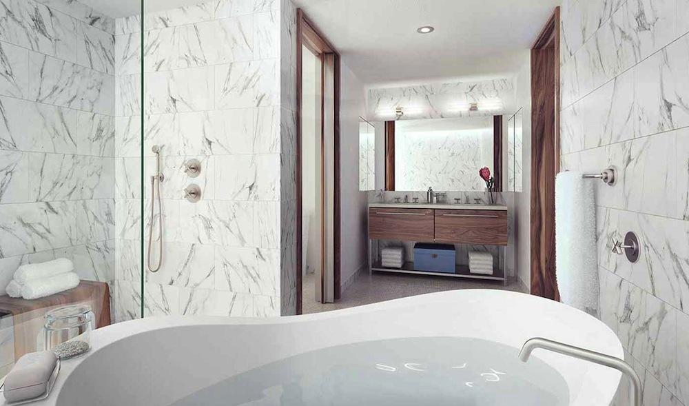 Pierhouse bathroom tub