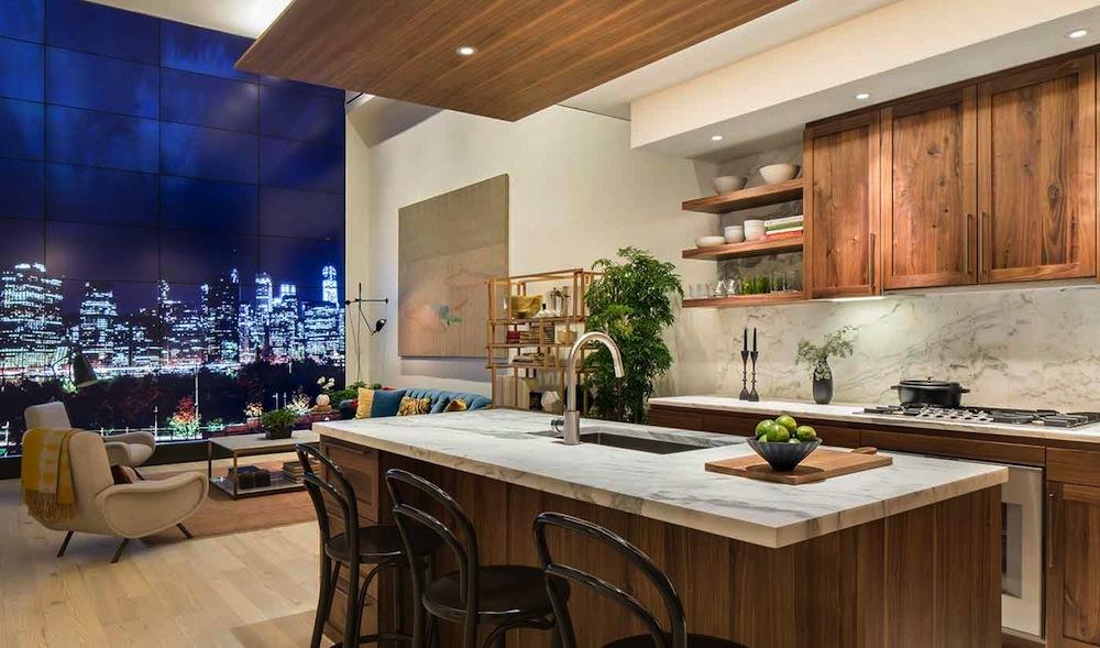 Pierhouse kitchen living