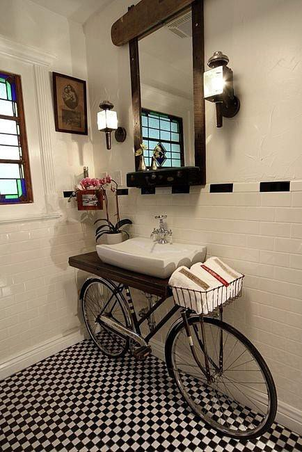 bathroom bicycle