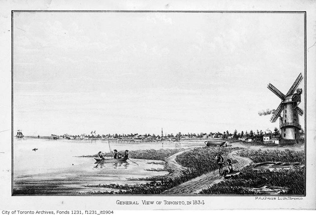 toronto harbour 1834