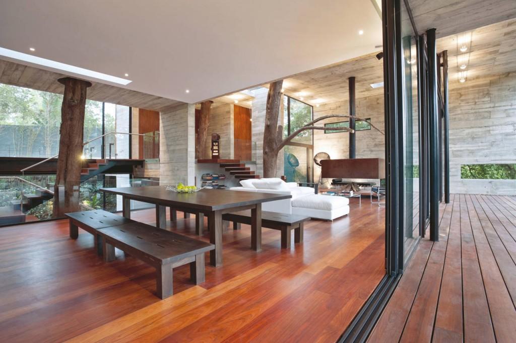 tree living room