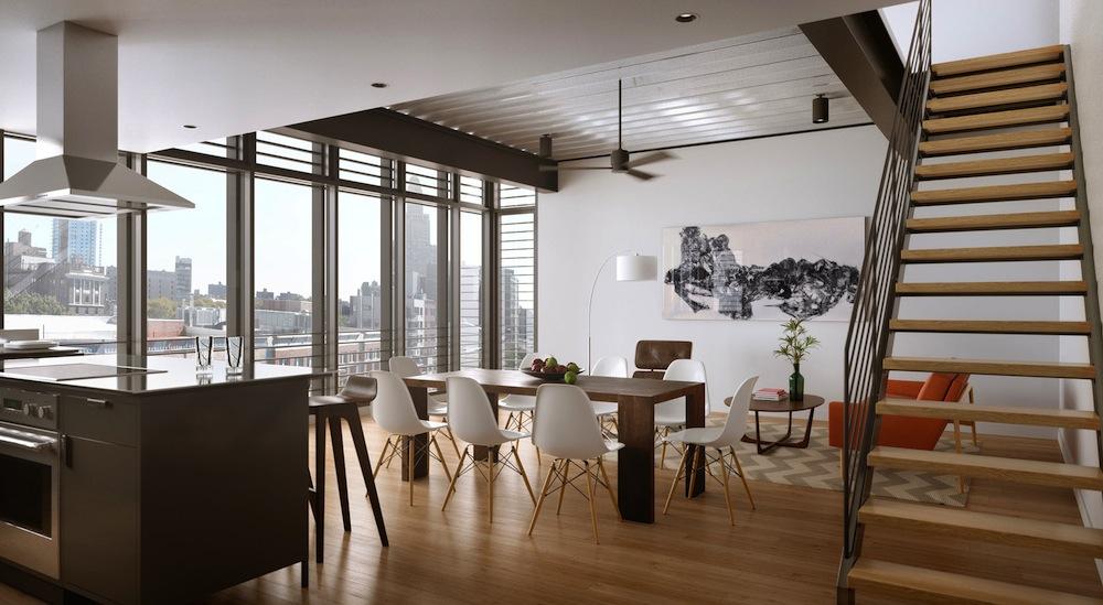 440 Atlantic living room