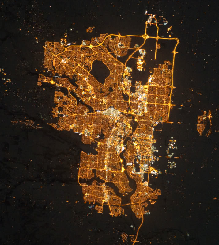 calgary from space
