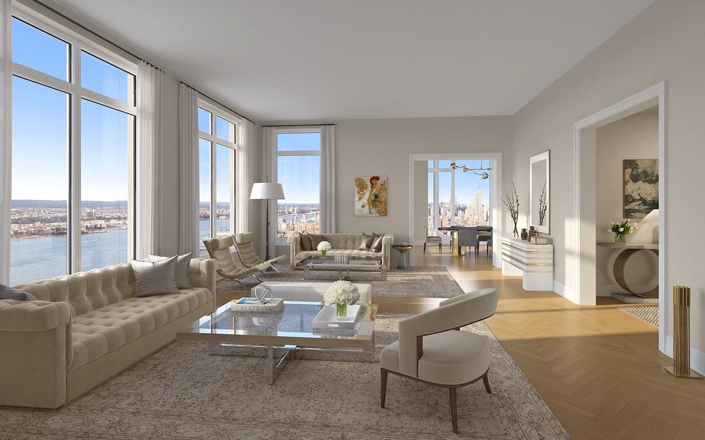30 Park Place corner living room