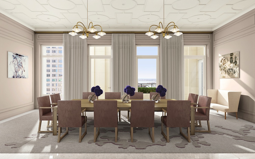 30 Park Place dining room amenity