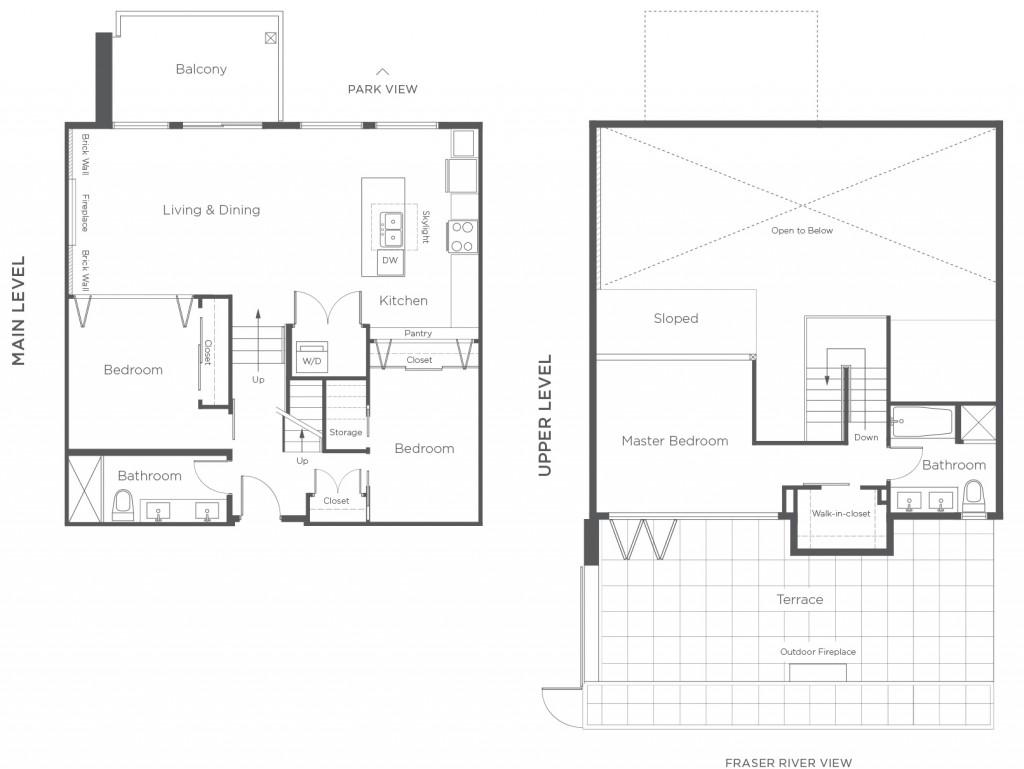glass house loft penthouse plans