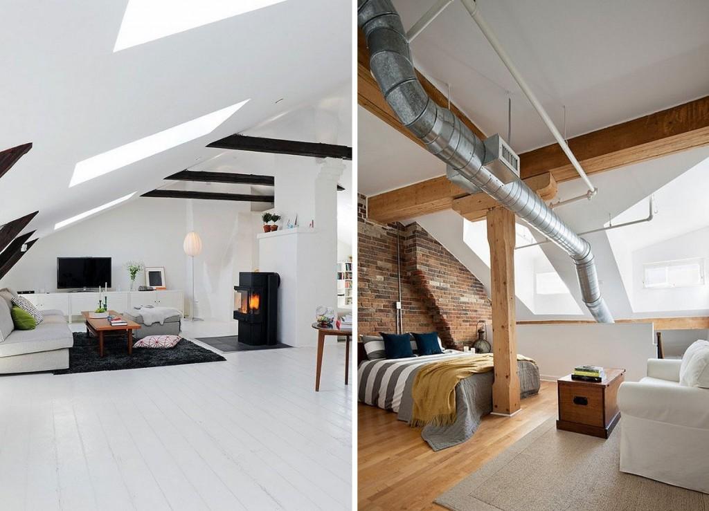 slanted ceiling attics