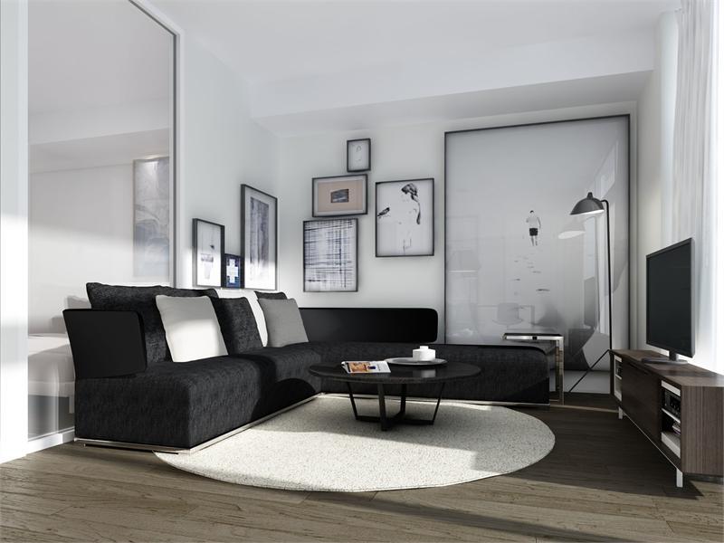 ten93 two bedroom living room