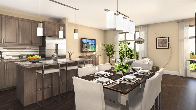 the clairington kitchen rendering