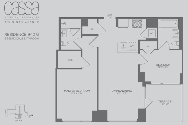 Cassa Residences 2BR fp terrace