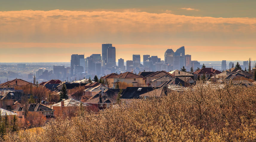 calgary skyline canadian housing prices