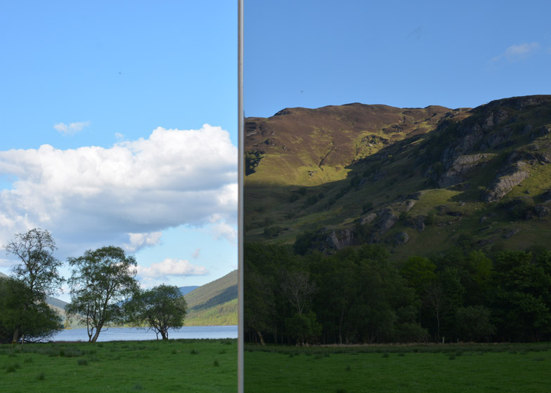 mirrored lookout point scotland 2