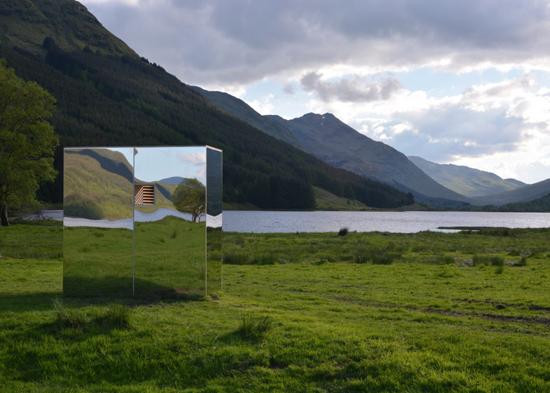 mirrored lookout point scotland