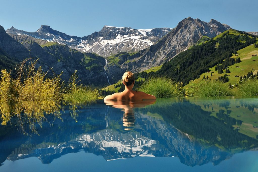 swiss alps infinity pool