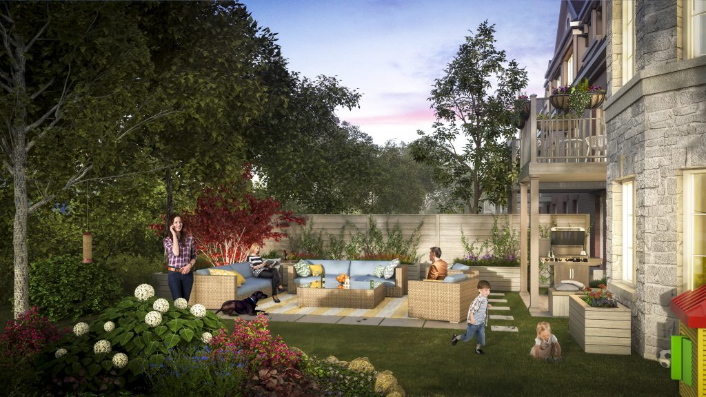 townes of richview backyard rendering