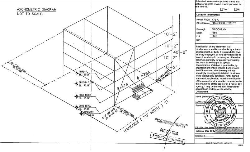 476 Hancock Street diagram