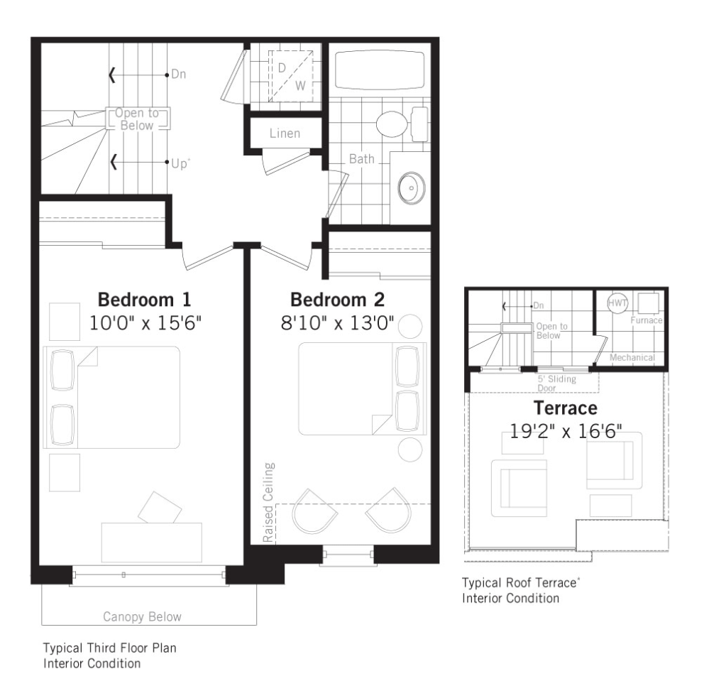 Grand Cornell Brownstones, Soho floorplan 2