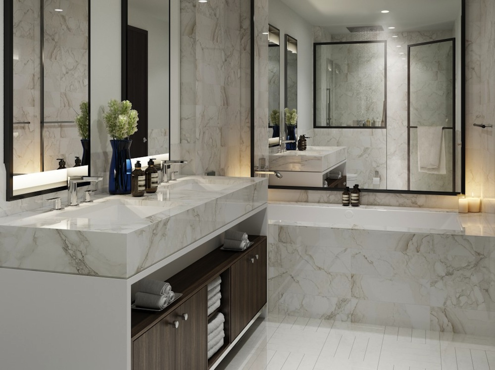 The Seymour master bathroom