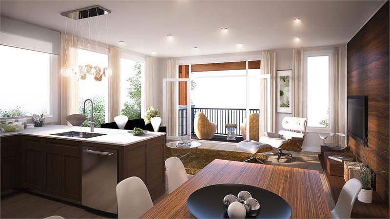 hampton park lofts living room