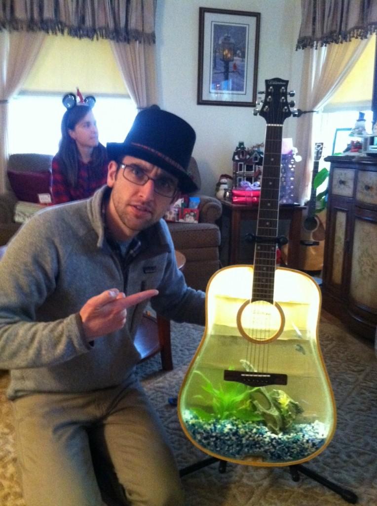 guitar fish tank