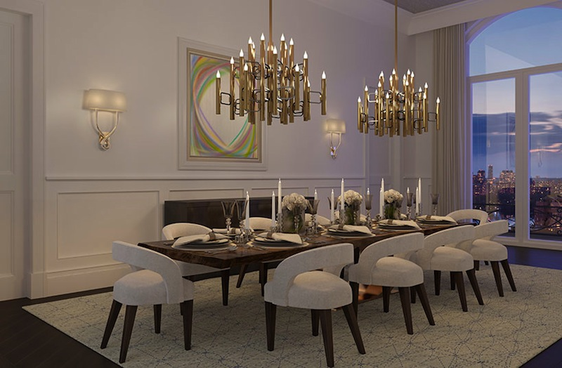 1110 Park Avenue dining room
