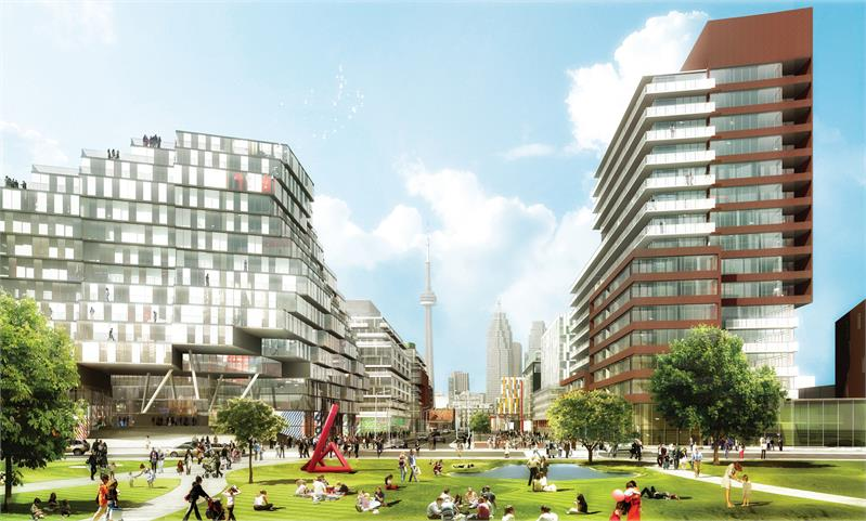 Canary Park at Toronto's waterfront is currently under construction and being sold through Baker Real Estate.