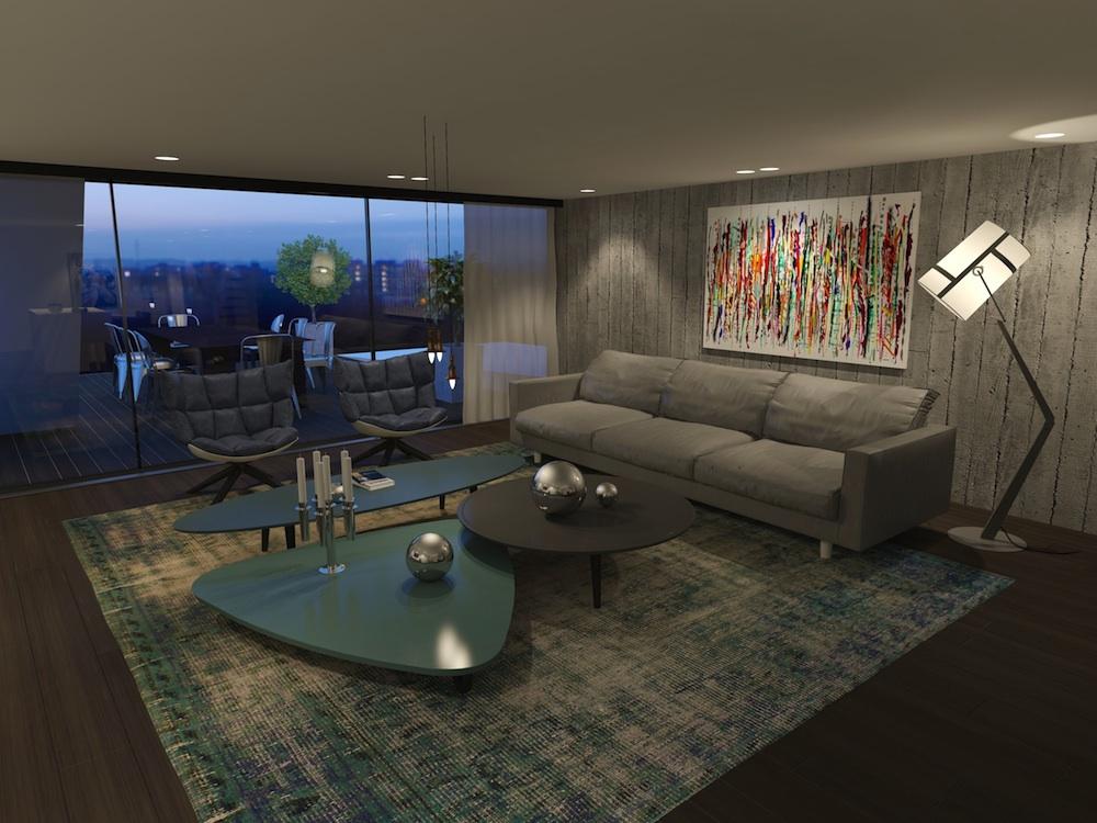 492 Warren living room