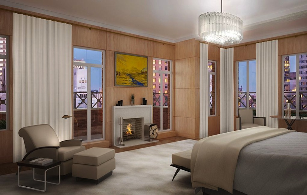 737 Park Avenue penthouse bedroom