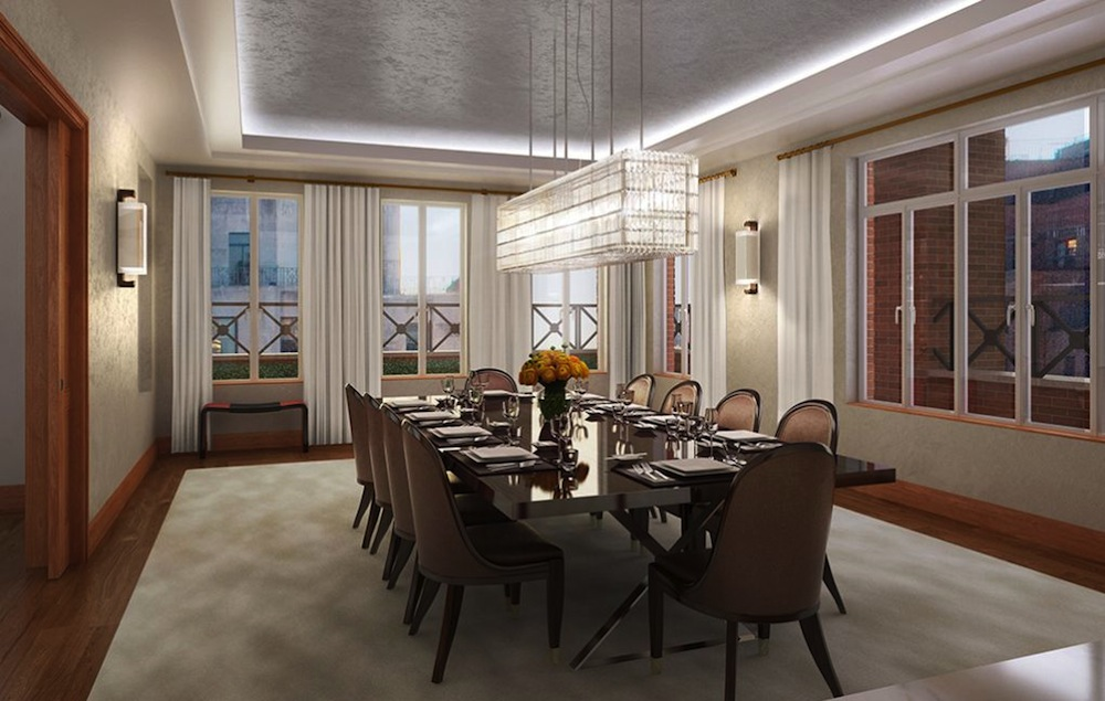 737 Park Avenue penthouse dining roo