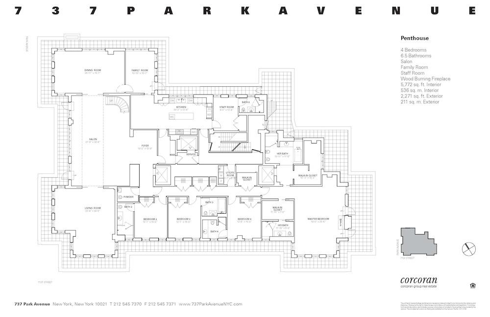 737 Park Avenue penthouse fp 1