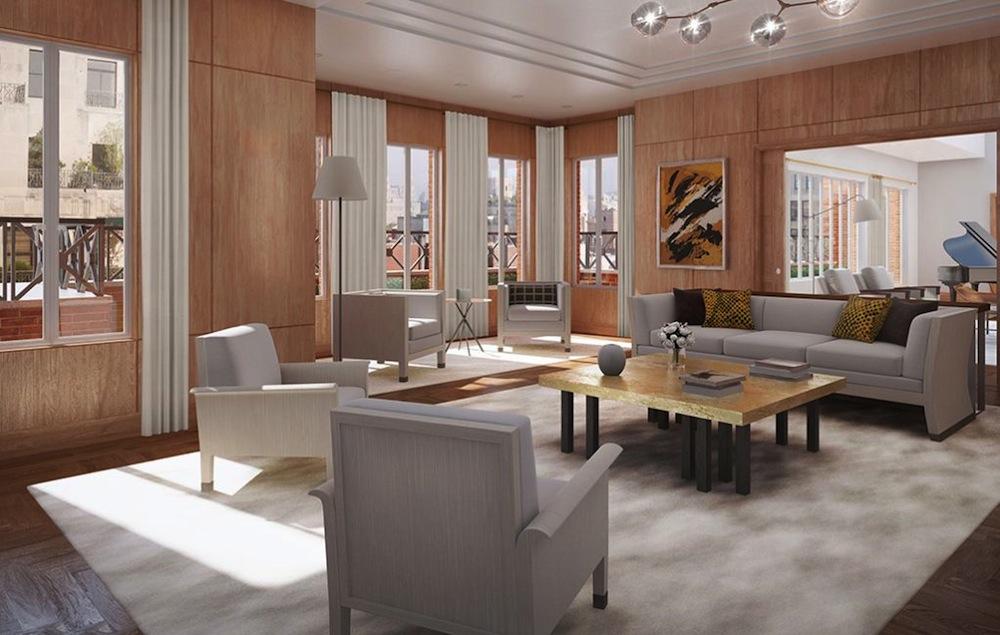 737 Park Avenue penthouse living room 2