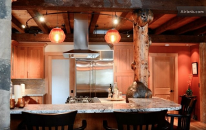 Airbnb Canmore log house