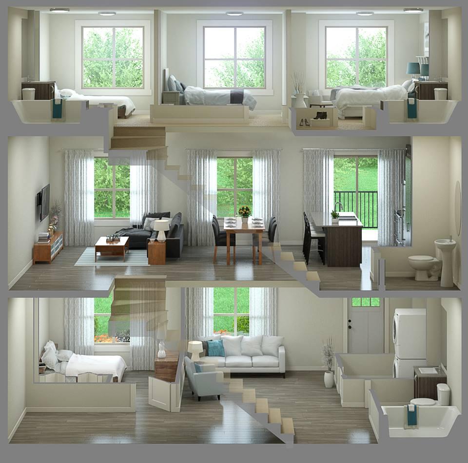 Sonoma at Nolan Hill Calgary townhomes floorplan