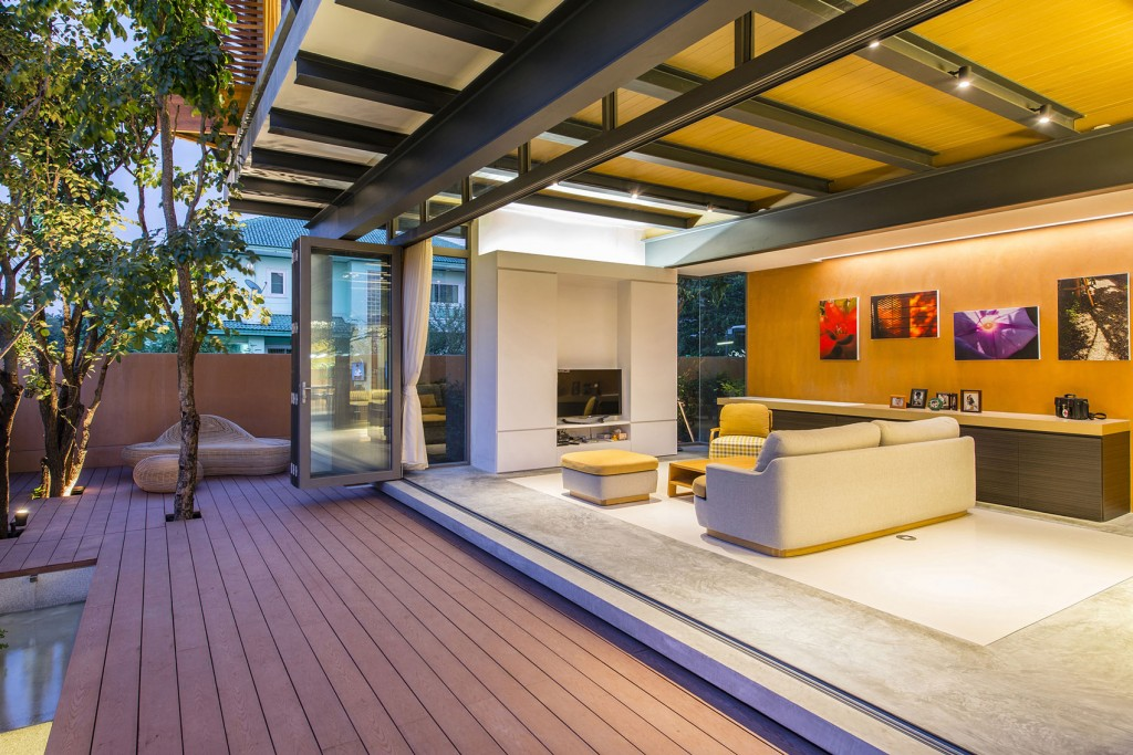 open-air living room