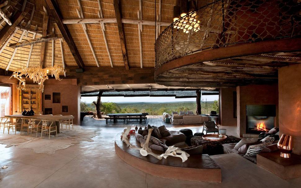 open-concept african villa