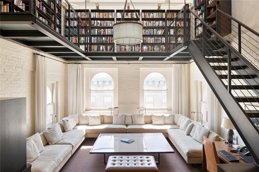 open-concept home library