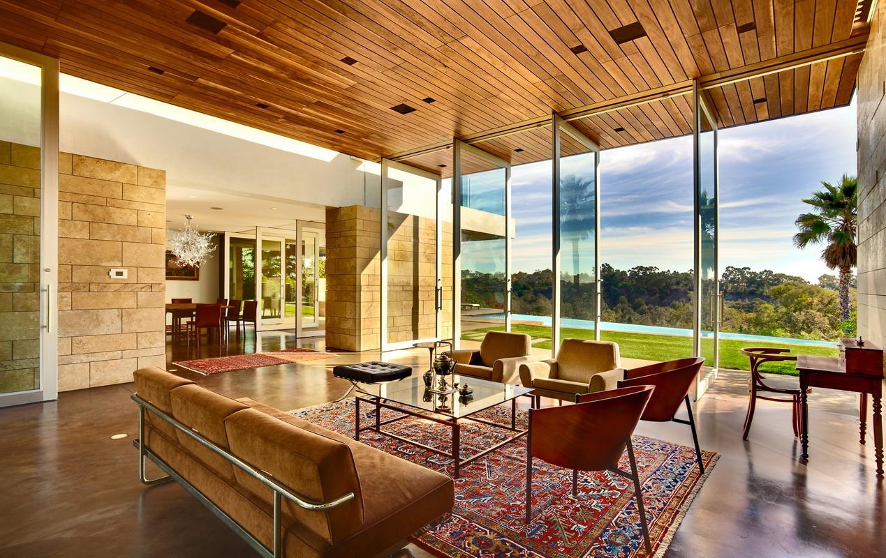 open-concept lounge area