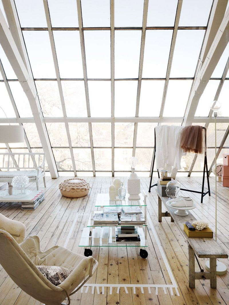 open-concept with skylight