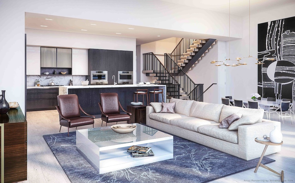 11 BEACH - TH LIVING ROOM rendering by Williams New York