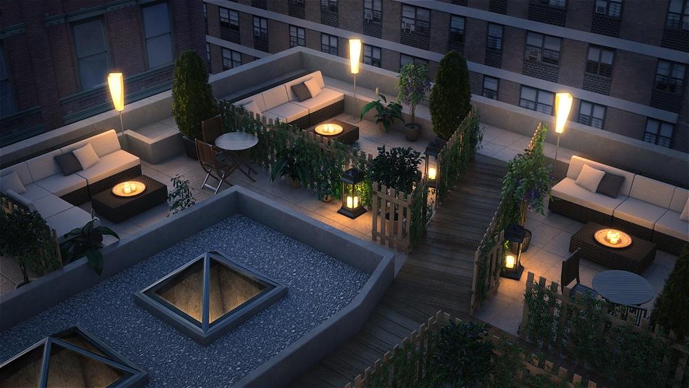 133 Mulberry roof garden
