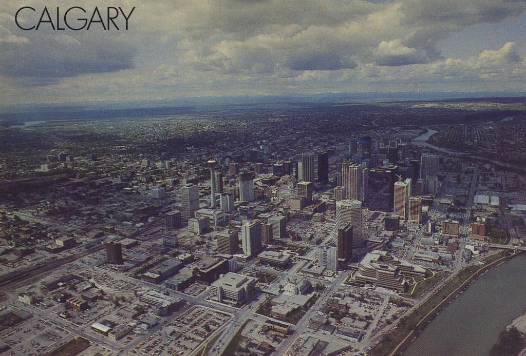 Calgary aerial historic