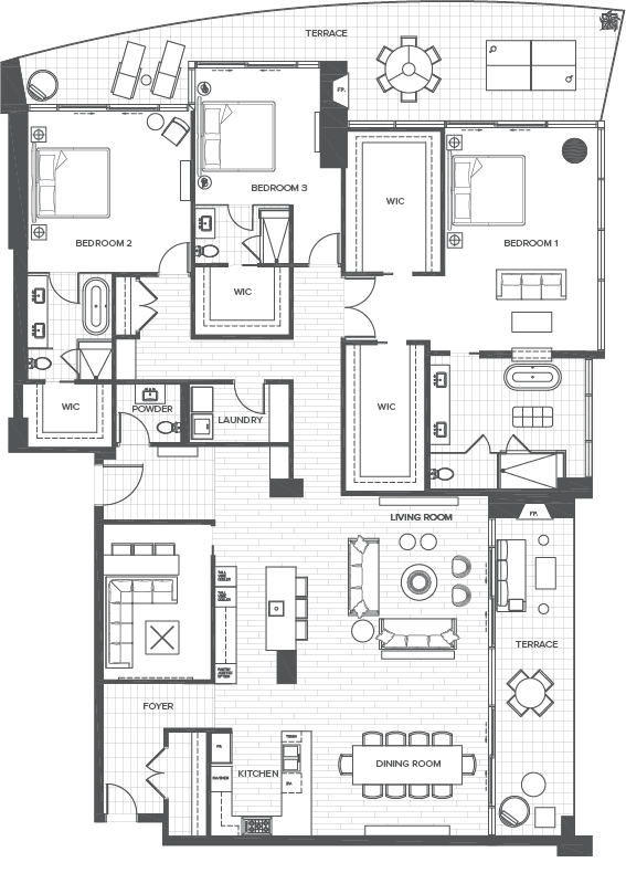 bleu ciel floorplan