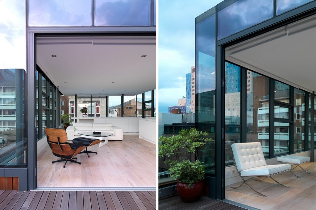 retractable window penthouse