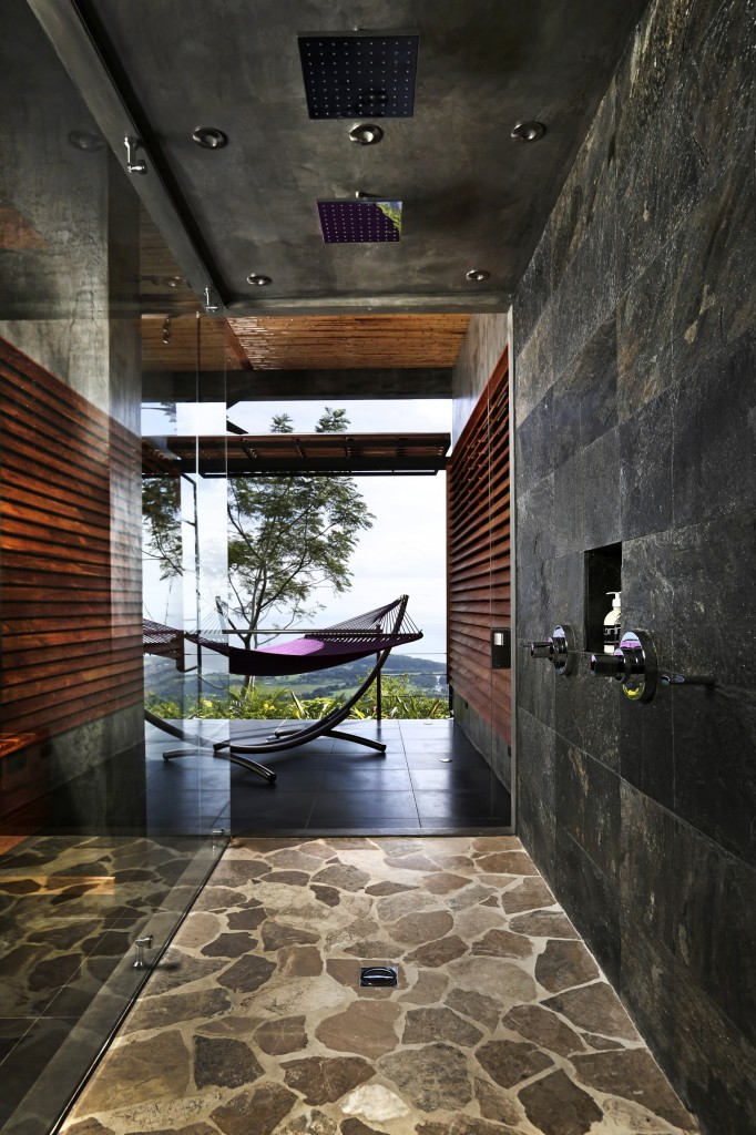 shower with hammock