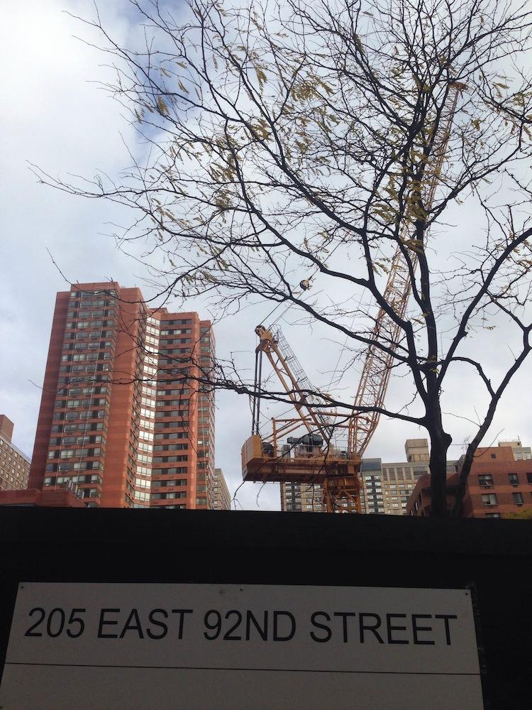 205 East 92nd Street crane
