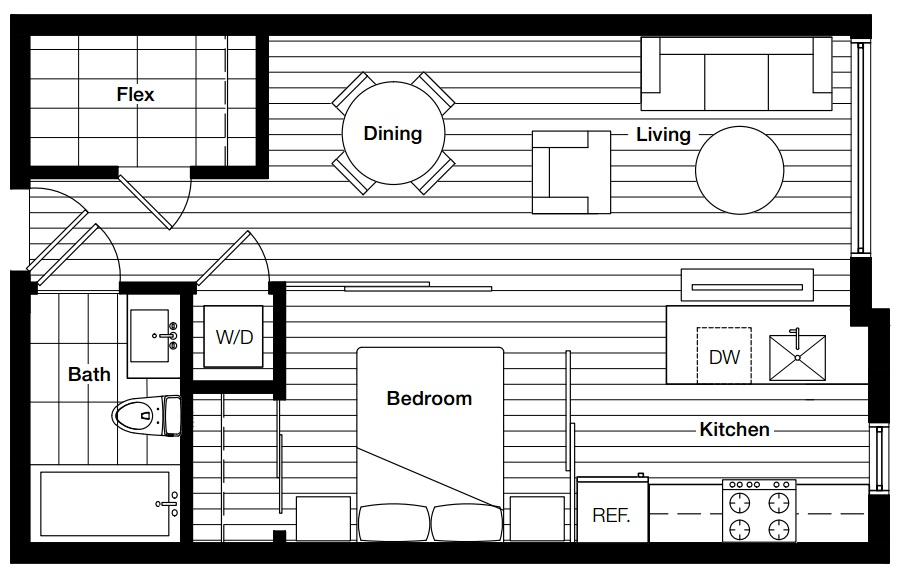 Brock floorplan Main Street condos