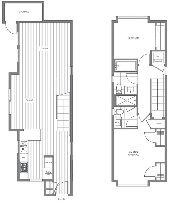 cambria floorplan vancouver townhome