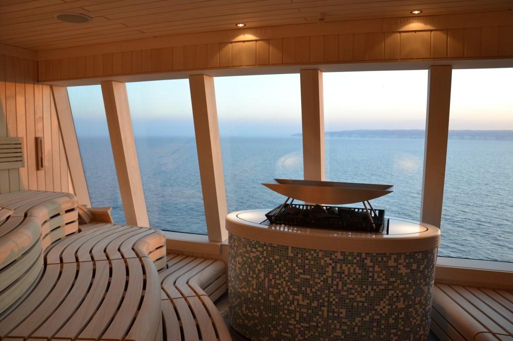 Cruise ship sauna